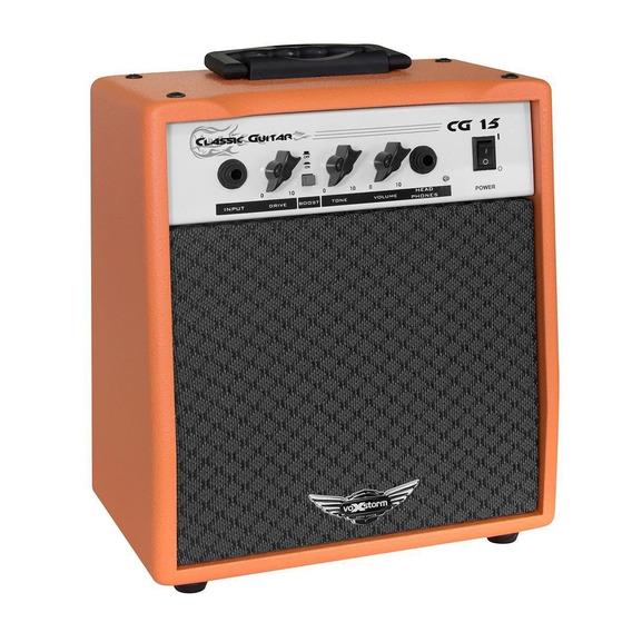 Amplificador Classic Guitar Laranja 15w 4 Ohms Voxstorm