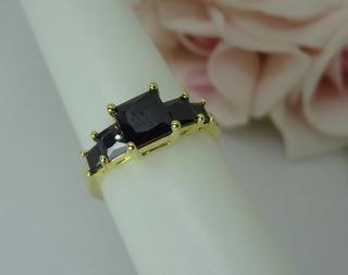 Anel De Formatura Folheado A Ouro Zirconia Aro 18 Nf 7