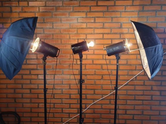 Kit Iluminação Atek 140 (estúdio Fotográfico)
