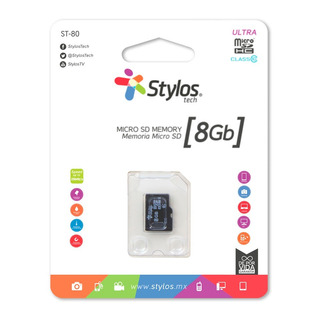 Stylos Memoria Micro Sd 8gb Mayoreo Original Nueva Sellada Garantia Alta Transferencia