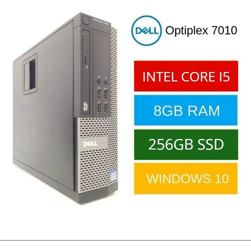 Dell Desktop I5 8gb Ram Ddr3 256gb Ssd + Wifi