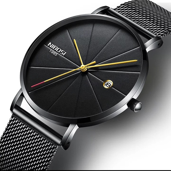 Relógio Masculino Militar Nibosi Top Marca De Luxo Original
