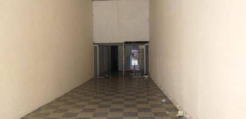 Imagem 1 de 5 de Salão Para Alugar, 90 M² Por R$ 2.300/mês - Vila Bocaina - Mauá/sp - Sl0168
