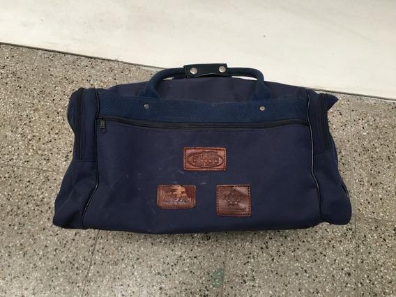 Bolso De Viaje Color Azul 50x22x28cm (detalle)