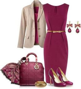 Vestido+blazer Elegante Evangelica E Executiva Cod#ble+