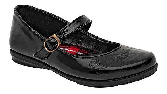 Zapato Escolar Yondeer Negro Sint Dama Correa C69698 Udt