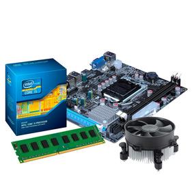 Kit Processador I3 2100 + Placa Mãe H61, 8gb (2x4gb) Ddr3