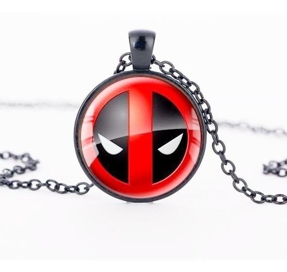 Colar Marvel Deadpool Liga De Zinco Pronto A Entrega +brinde
