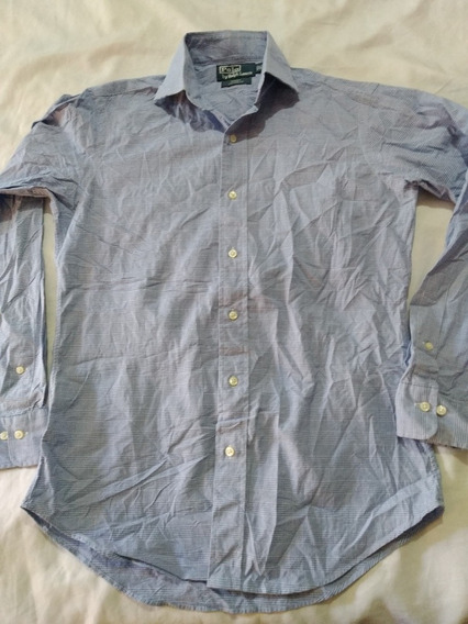 Camisa Polo Ralph Lauren Talla M Azul A Cuadros(moda Casual)