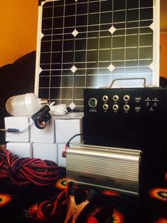 Kit Panel Solar 50 Laptop Focos Equipo Sonido Uso Domestico
