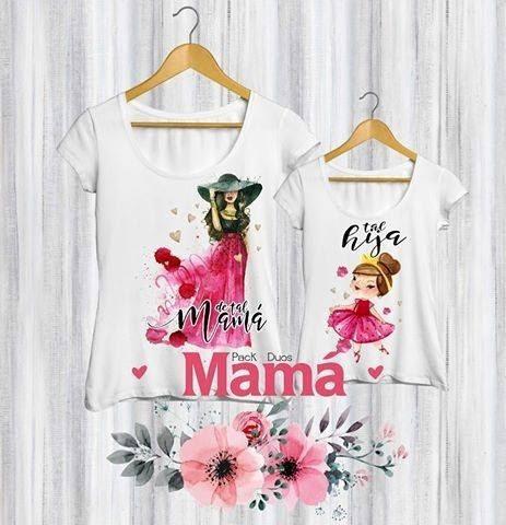 Combo Remeras Madre E Hija/o 2 Unidades,día De La Madre