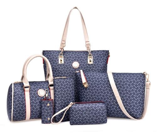Set 6 Bolsas Estampada Moda Hombreo Dama Mujer Cosmetiquera