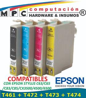 Kit 4 Cartuchos Comp Epson T461 C63/c65/c83/c85/cx3500/4500/