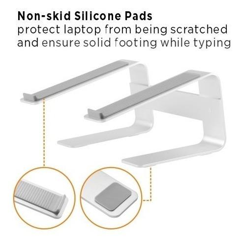 Base Aluminio Para Portatil / Mac Ergonomica Hasta 15