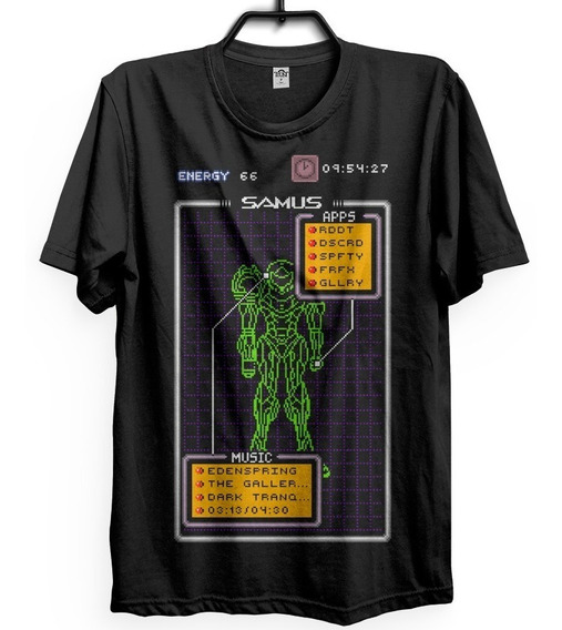 Samus Aran Camiseta Samusu Aran Metroid Geek Nerd Hunter Sp