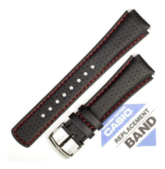 Pulseira Casio Edifice Efa-120 Couro Preto 100% Original