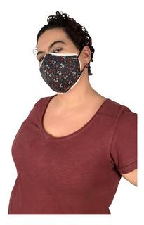 Máscara De Proteção Anatômica - Algodão Pacote De 5 Unidades