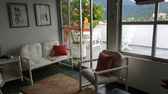 Cobertura Em Massaguaçu, Caraguatatuba/sp De 126m² 3 Quartos À Venda Por R$ 450.000,00 - Co494311