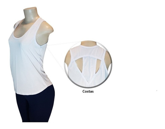 Blusa Regata Feminina Fitness Academia Dry Fit Camisa Suplex