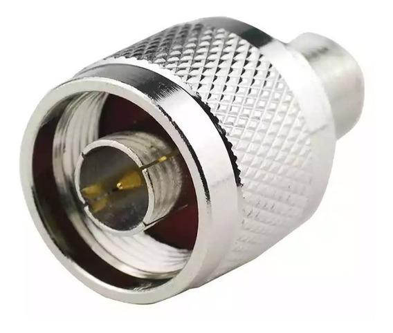 Conector Macho Tipo N A Conector F Adaptador Coaxial Rg6
