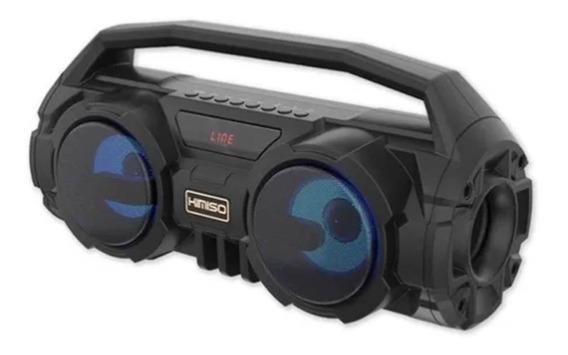 Caixa Som Amplificada Portatil Bluetooth Usb Fm Sd 500w