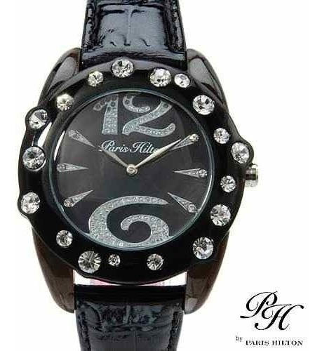 Reloj Para Dama Paris Hilton, Original Negro Piel