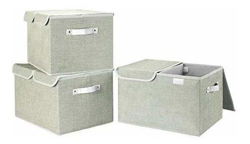 Imagen 1 de 2 de Robuy Cubos De Almacenamiento Grandes, Paquete De 3, De Tela