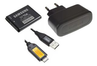 Cargador Samsung + Bateria Es74 Es75 Es80 Tl205 Sh100 Bp-70a