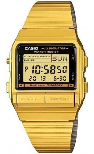 Relógio Casio Db-380g-1df Dourado Retrô - Refinado