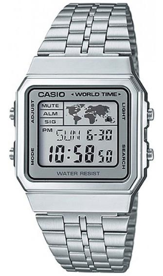 Relógio Casio Unisex Vintage World Time A500wa-7df