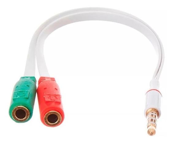 Adaptador P3 Fêmea Para 2 P2 (fone/microfone) Lapela Headset