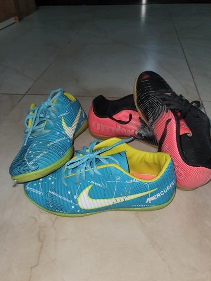 Conjunto Chuteiras Umbro E Nike Vibe Jr