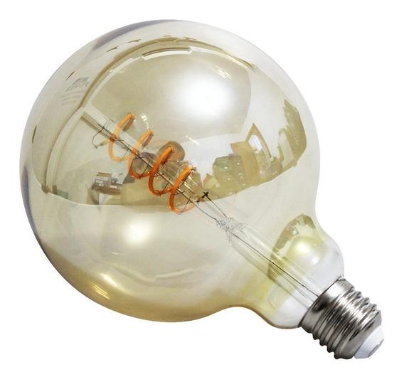 Lâmpada Led Quente Ambar Filamento 4w Gt125 Vintage Retrô