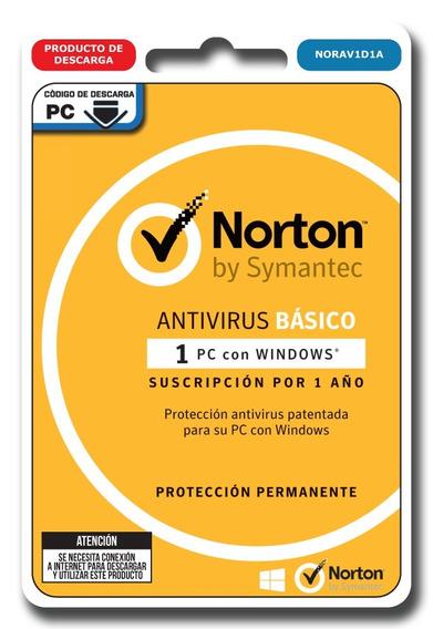 Norton Security Basic Antivirus 1 Dispositivo 1 Año Digital
