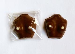 Chocolates Eroticos. Senos Souvenir