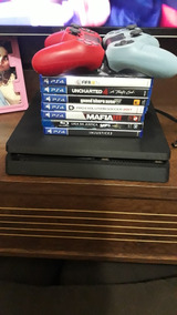 Playstation 4 500gb 2 Controles + 5 Jogos