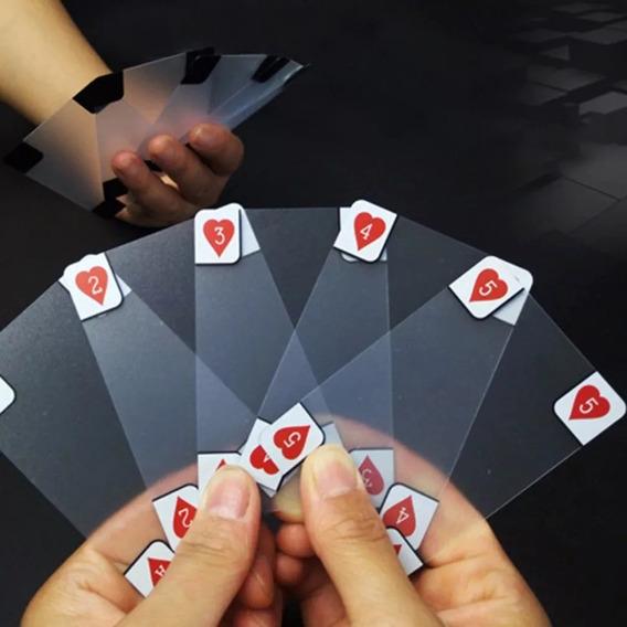 Baralho Transparente Poker Mágica Truco À Prova D