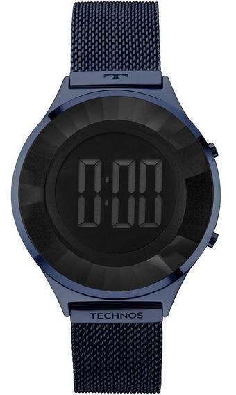 Relógio Feminino Technos Crystal Azul - Original
