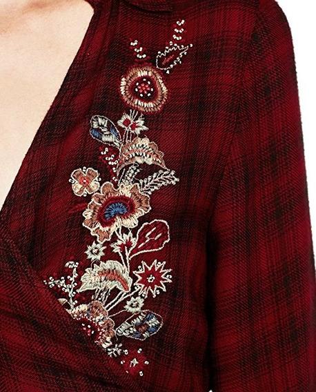 Vestido Z.a.r.a. Bordado Escoces Cruzado