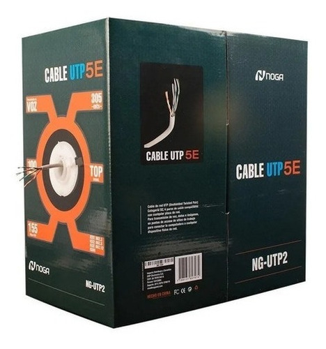 Bobina Cable Utp Cat 5e Interior 305 Mtrs Cctv Redes Noga