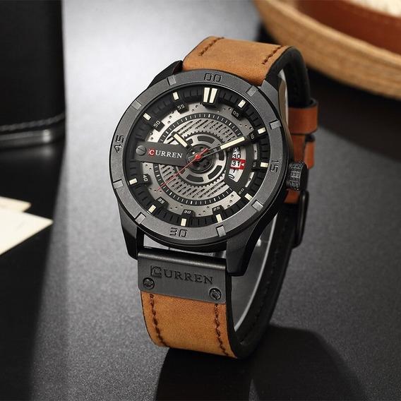 Relógio Curren Pulseira De Couro 8301