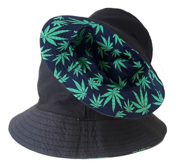 Chapéu Bucket Hat Dupla Face Boné Balde Tropical 2 Em 1