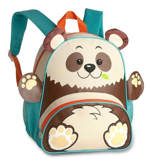 Mochila Infantil Panda De Costas Pets Clio