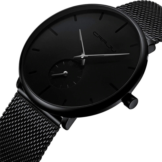 Relógio Casual Esportivo Crrju Luxo A Prova Dagua - A Vista