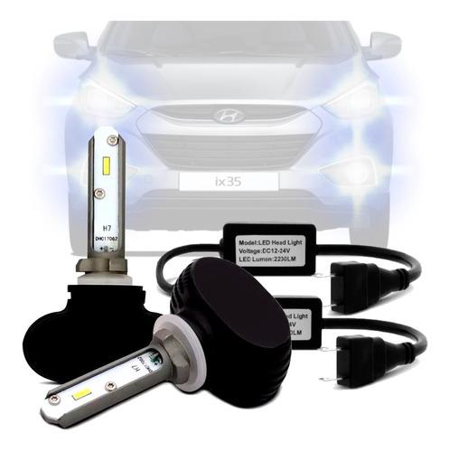 Imagem 1 de 4 de Par Lampada Ultra Led Milha H27 Hyundai Ix35 Todas