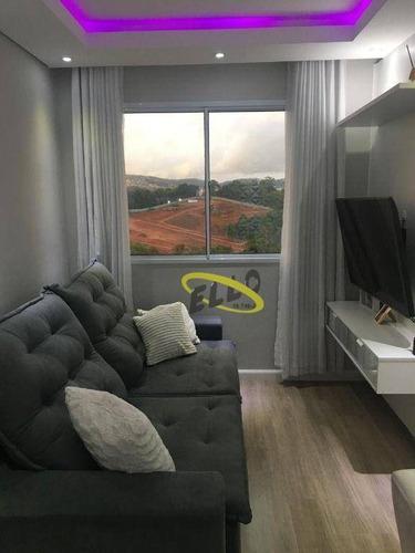 Imagem 1 de 22 de Lindo Apartamento Com 2 Dormitórios À Venda, 46 M² Por R$ 215.000 - Jardim Honória - Cotia/sp - Ap2238