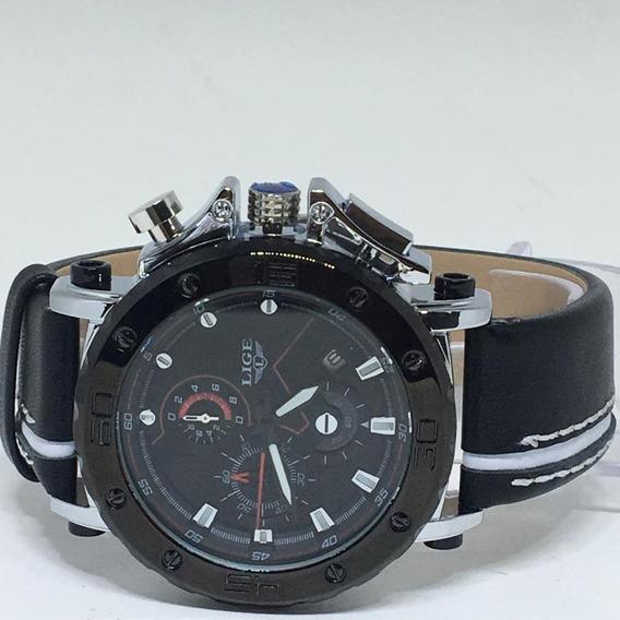 Relógio Masculino Lige 9899 Original 100% Funcional + Caixa
