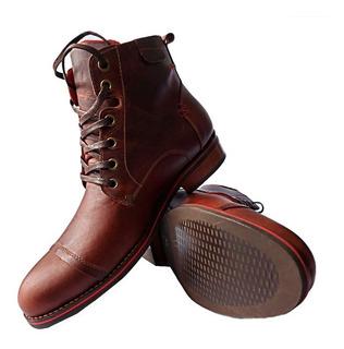 Zapato Botas Hombre Franchesco Sport Cuero 100% Suela