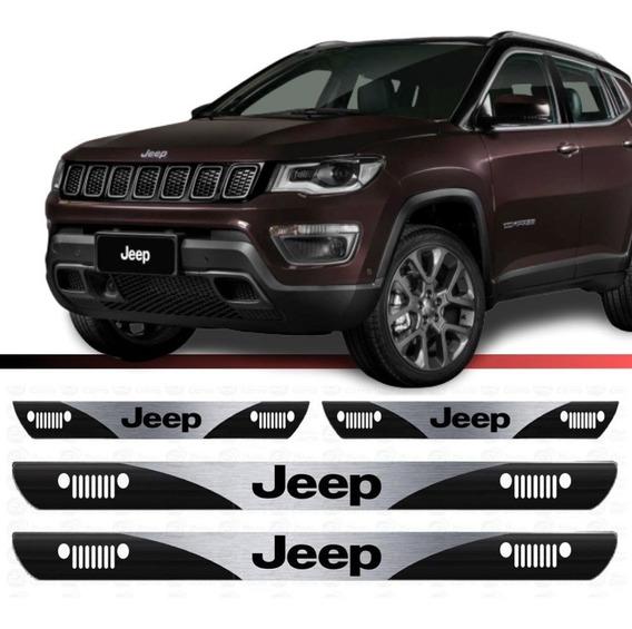 Soleira Protetor Porta Resinada Novo Jeep Compass 2020 4pçs
