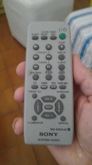 Controle Remoto Sony Sistem Audio Rm-srg440, Original,usado!